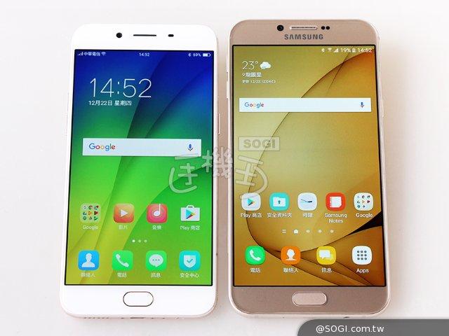 谁评价好?OPPO R9s与三星A8 2016手机对比