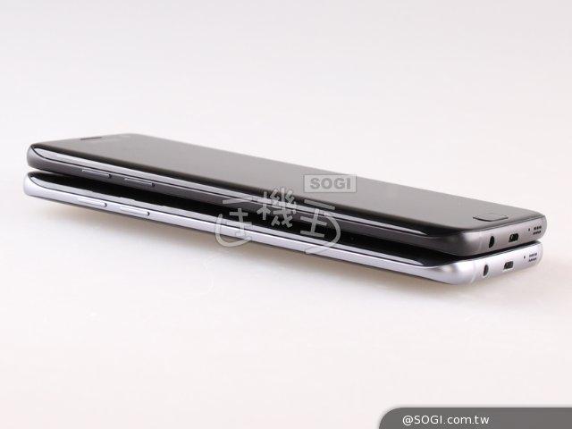 三星S7 edge晶墨黑开箱 与玛瑙黑颜色对比