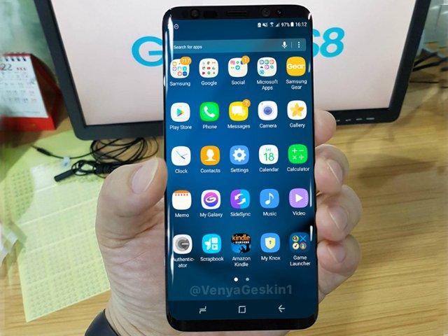 三星S8实机曝光:屏幕显示功能+Always On Display